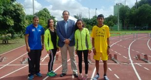 Palestine Honorary Consul General Dr. Victor Atallah with Palestinian athletes